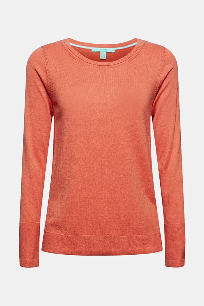 Basic Pullover mit Organic Cotton, BLUSH, detail image number 5