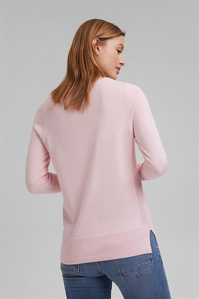 Basic jumper with organic cotton, LIGHT PINK, detail image number 3