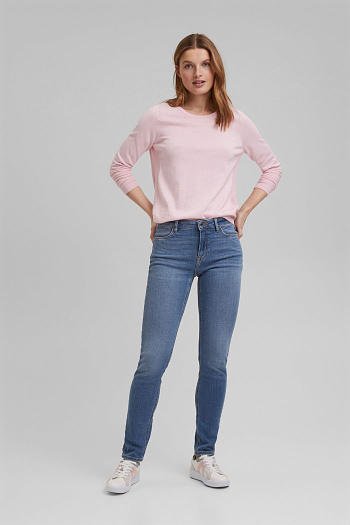 Basic jumper with organic cotton, LIGHT PINK, detail image number 1