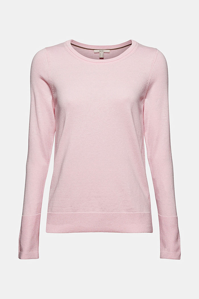 Basic jumper with organic cotton, LIGHT PINK, detail image number 5