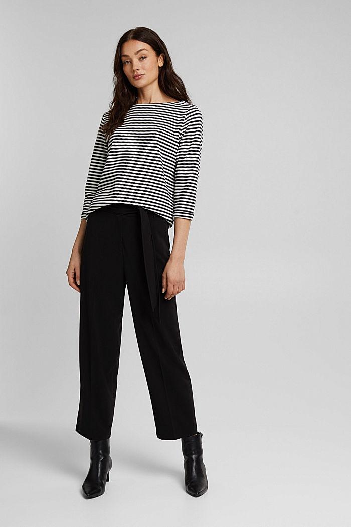 Textured sweatshirt in organic cotton, NAVY, detail image number 1