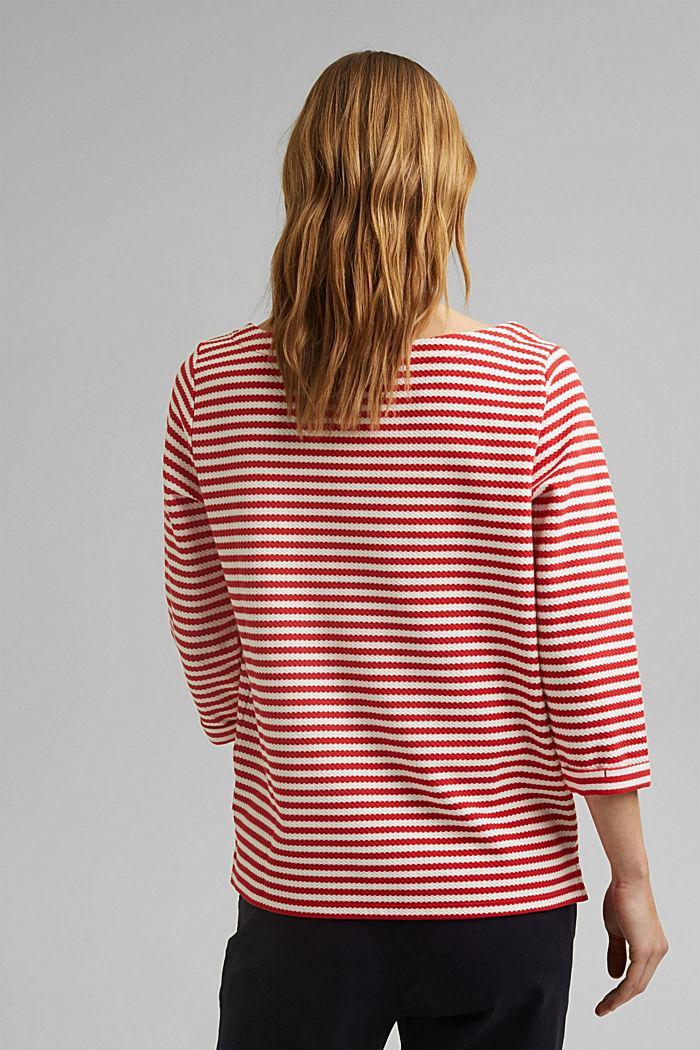 Strukturiertes Sweatshirt aus Organic Cotton, RED, detail image number 3