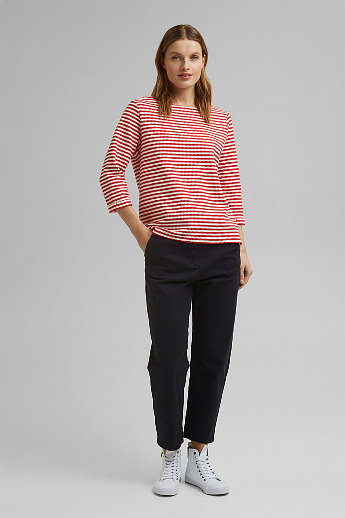Strukturiertes Sweatshirt aus Organic Cotton, RED, detail image number 1