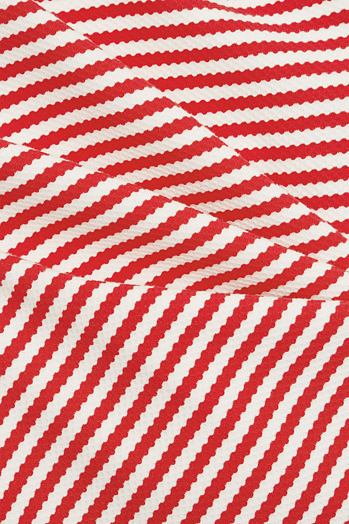 Strukturiertes Sweatshirt aus Organic Cotton, RED, detail image number 4