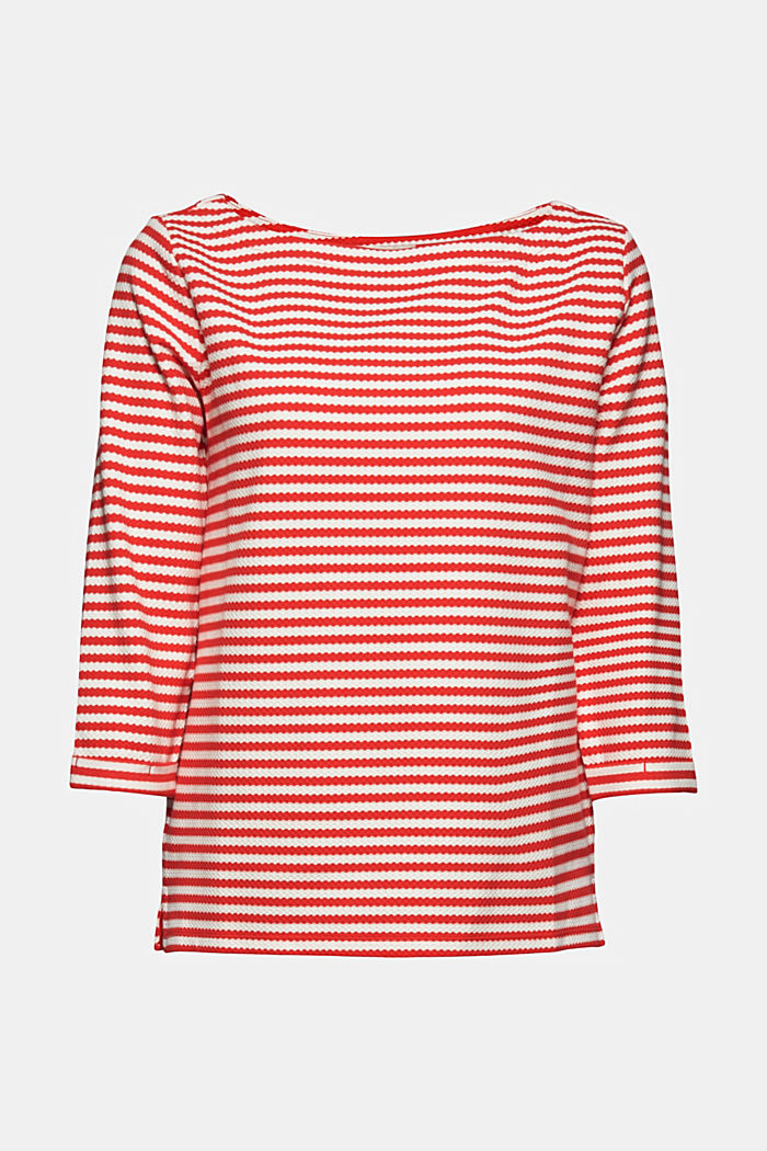 Strukturiertes Sweatshirt aus Organic Cotton, RED, detail image number 5