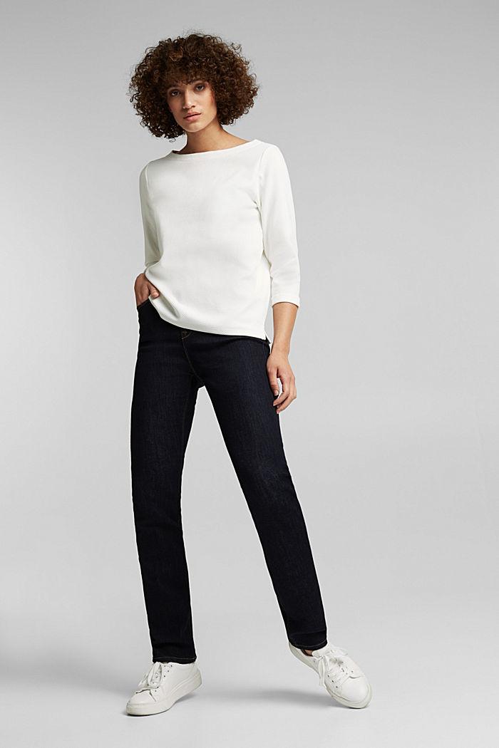 Strukturiertes Sweatshirt aus Organic Cotton, OFF WHITE, detail image number 1