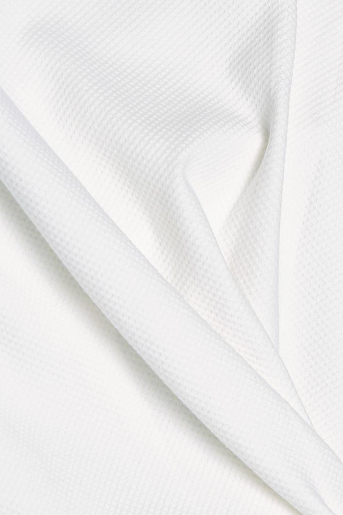 Strukturiertes Sweatshirt aus Organic Cotton, OFF WHITE, detail image number 4