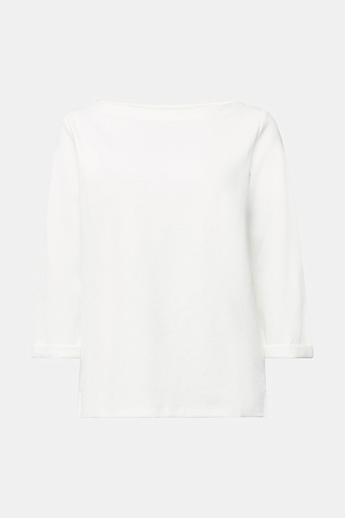 Textured sweatshirt in organic cotton