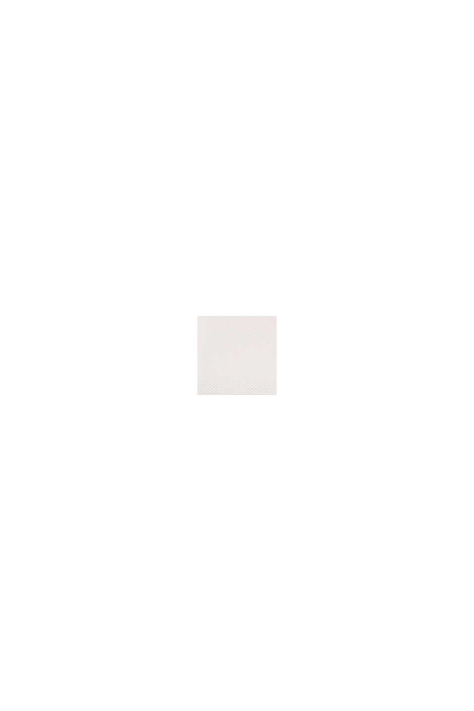 Strukturerad sweatshirt av ekologisk bomull, OFF WHITE, swatch