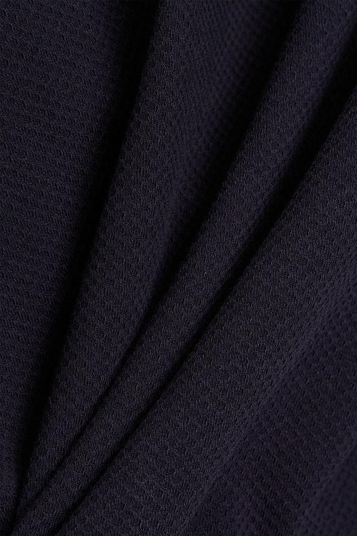 Textured sweatshirt in organic cotton, NAVY, detail image number 4