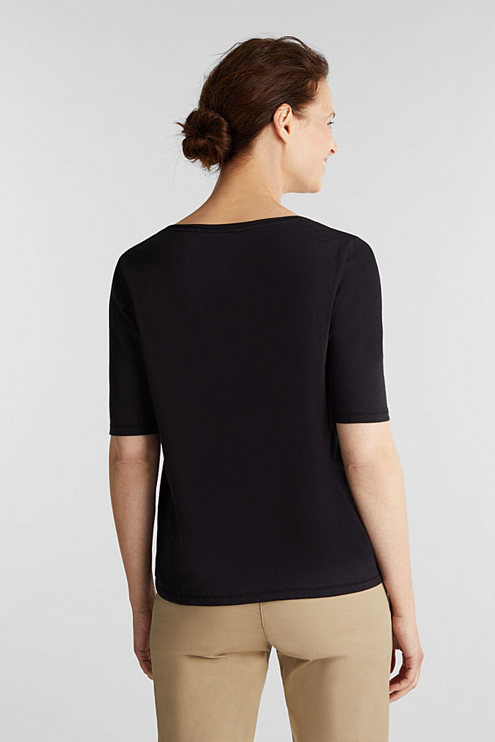 T-shirt made of 100% organic cotton, BLACK, detail image number 3