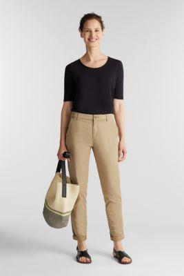 Slub T-shirt made of 100% organic cotton, BLACK, detail