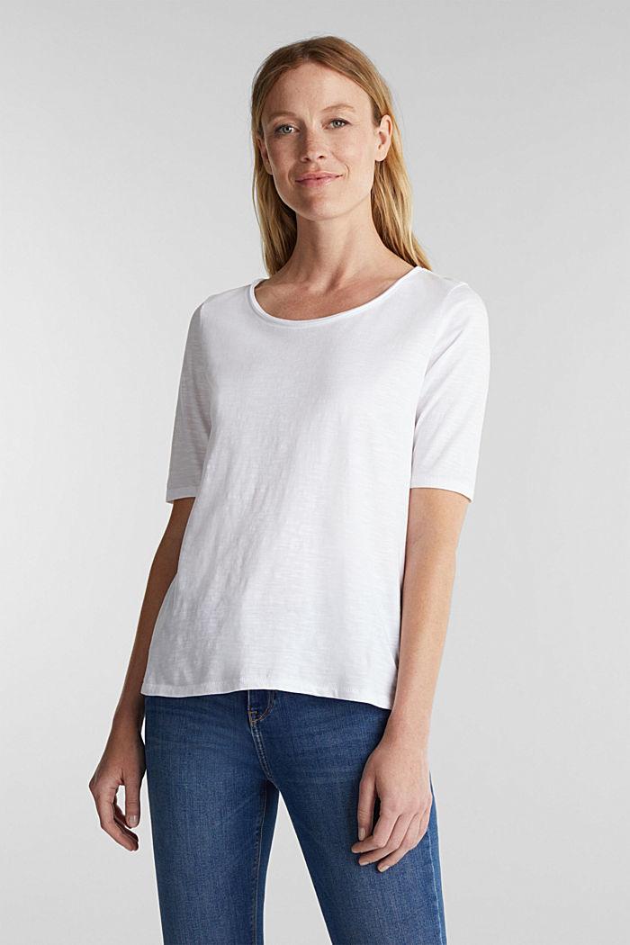 T-Shirt aus 100% Organic Cotton, WHITE, detail image number 0