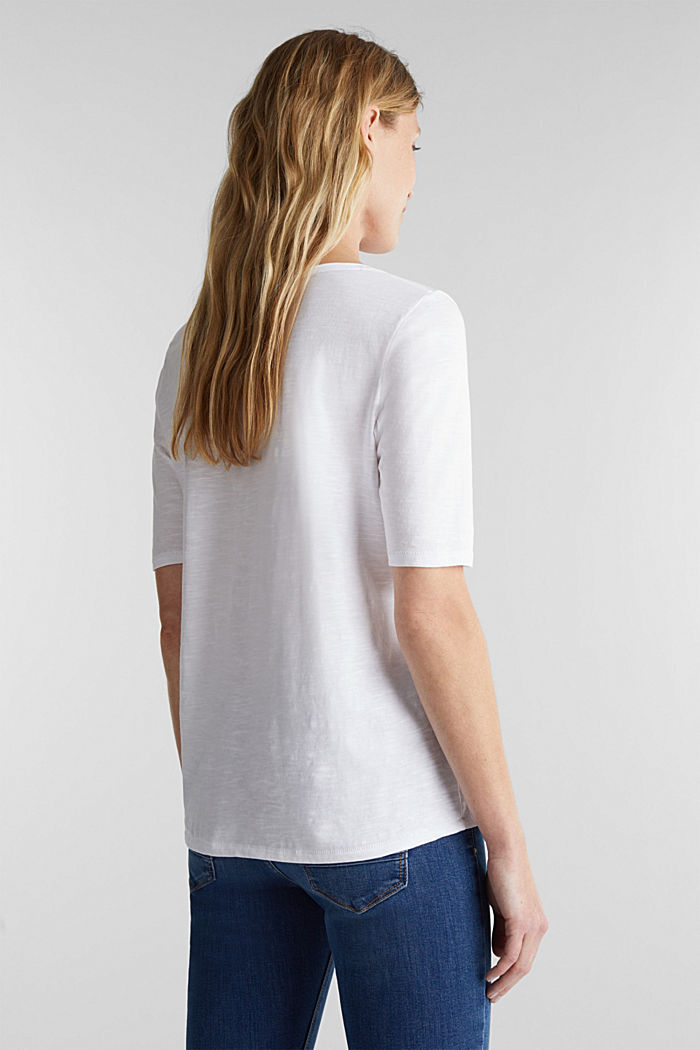 T-Shirt aus 100% Organic Cotton, WHITE, detail image number 3