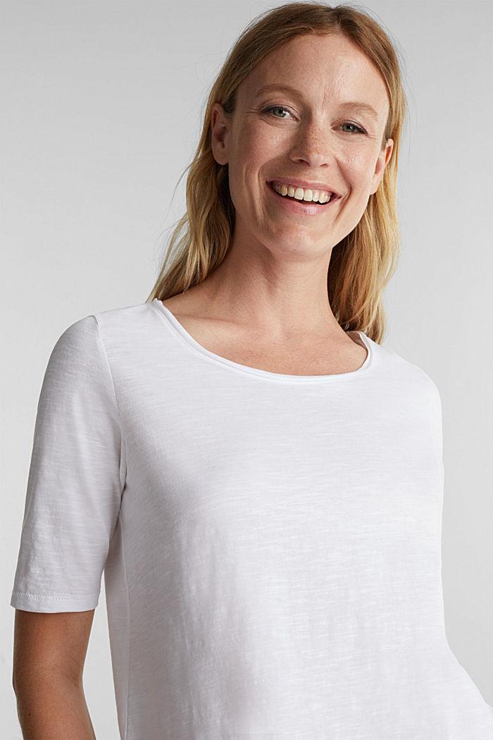 T-Shirt aus 100% Organic Cotton, WHITE, detail image number 5