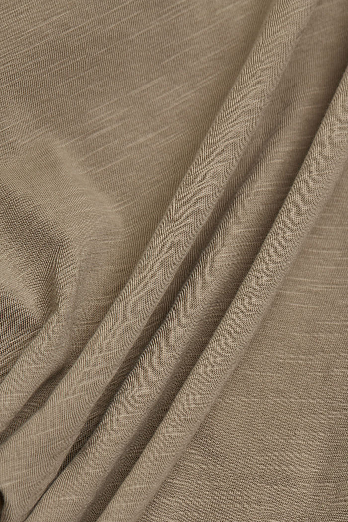 T-Shirt aus 100% Organic Cotton, LIGHT KHAKI, detail image number 4