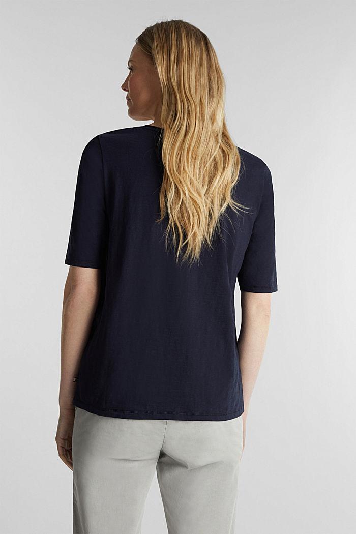 T-shirt made of 100% organic cotton, NAVY, detail image number 3