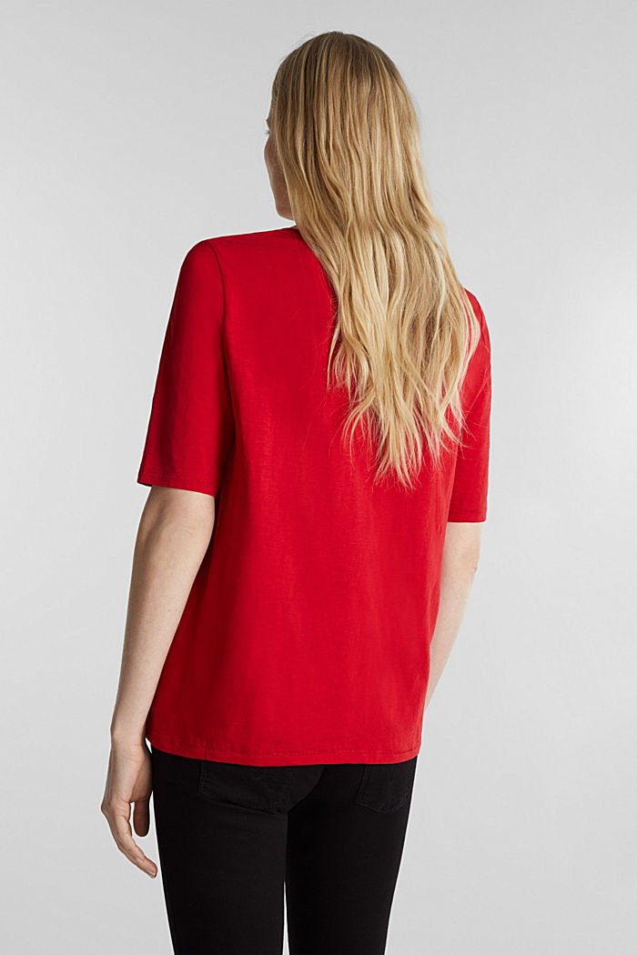 T-Shirt aus 100% Organic Cotton, DARK RED, detail image number 3
