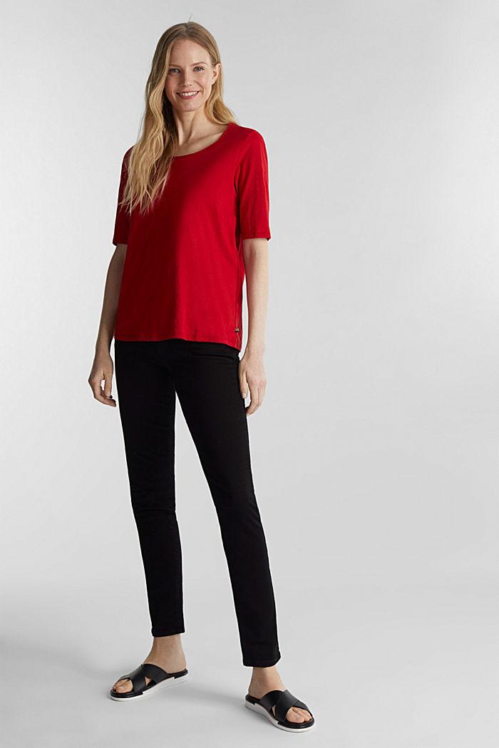 T-Shirt aus 100% Organic Cotton, DARK RED, detail image number 1