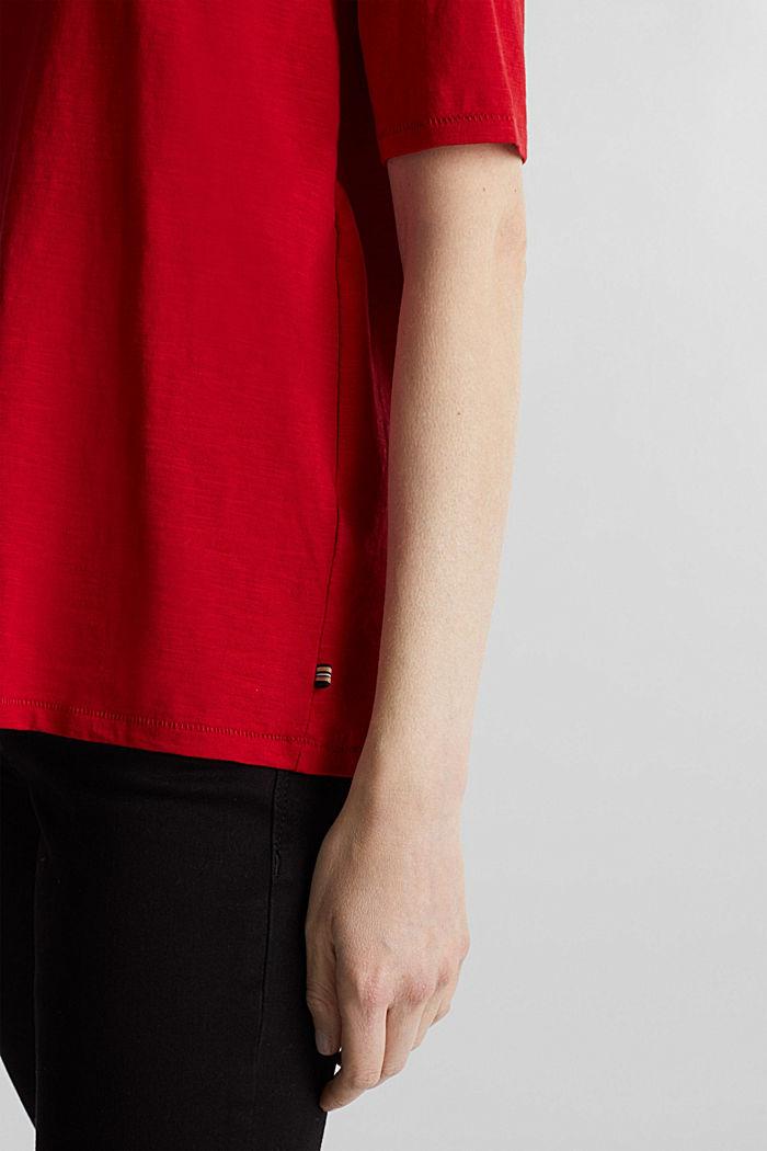 T-Shirt aus 100% Organic Cotton, DARK RED, detail image number 2