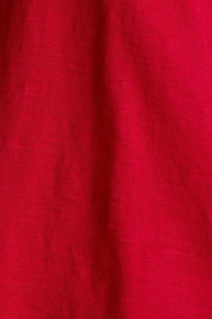 T-Shirt aus 100% Organic Cotton, DARK RED, detail image number 4