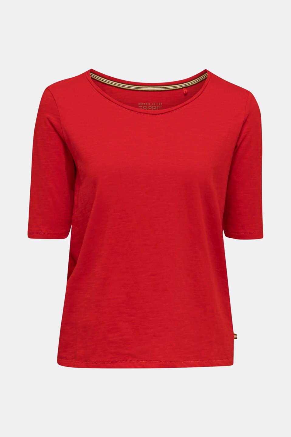 T-Shirts, DARK RED, detail image number 6