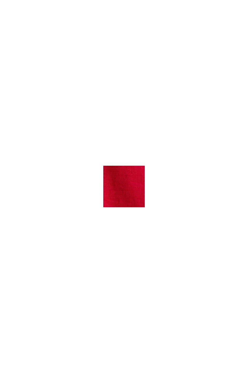 T-paita 100 % luomupuuvillaa, DARK RED, swatch