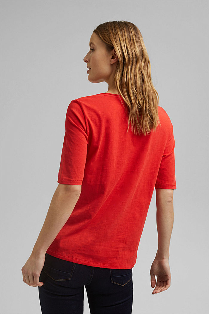 T-shirt made of 100% organic cotton, RED, detail image number 3