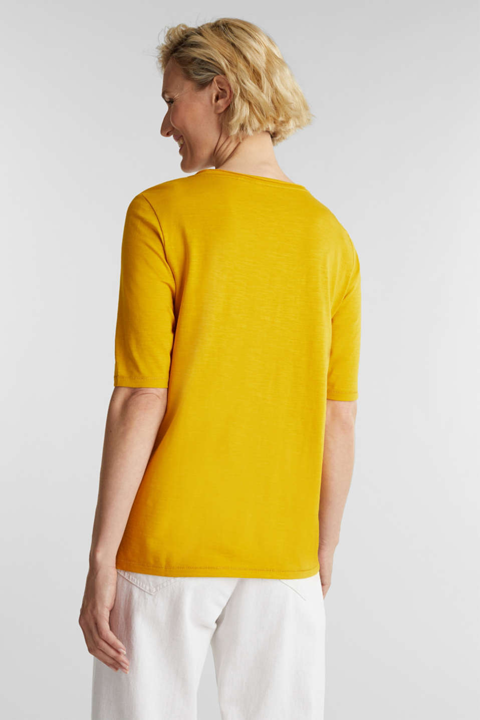 T-shirt made of 100% organic cotton, BRASS YELLOW, detail image number 3