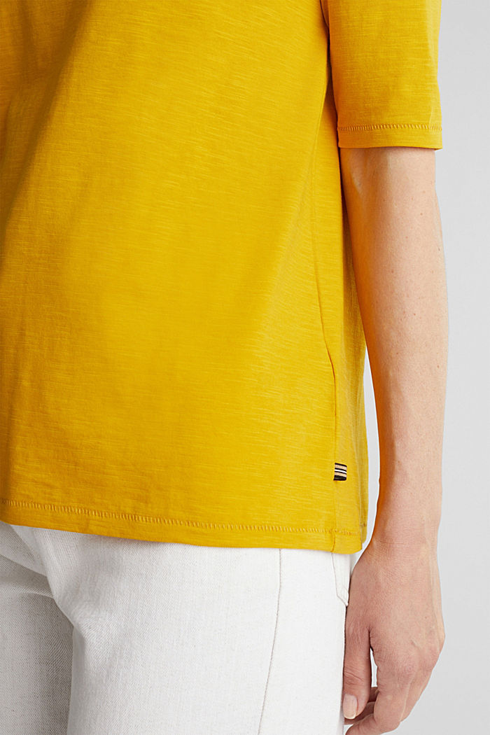 T-shirt made of 100% organic cotton, BRASS YELLOW, detail image number 2