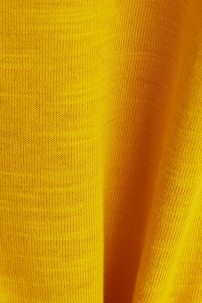 T-shirt made of 100% organic cotton, BRASS YELLOW, detail image number 4