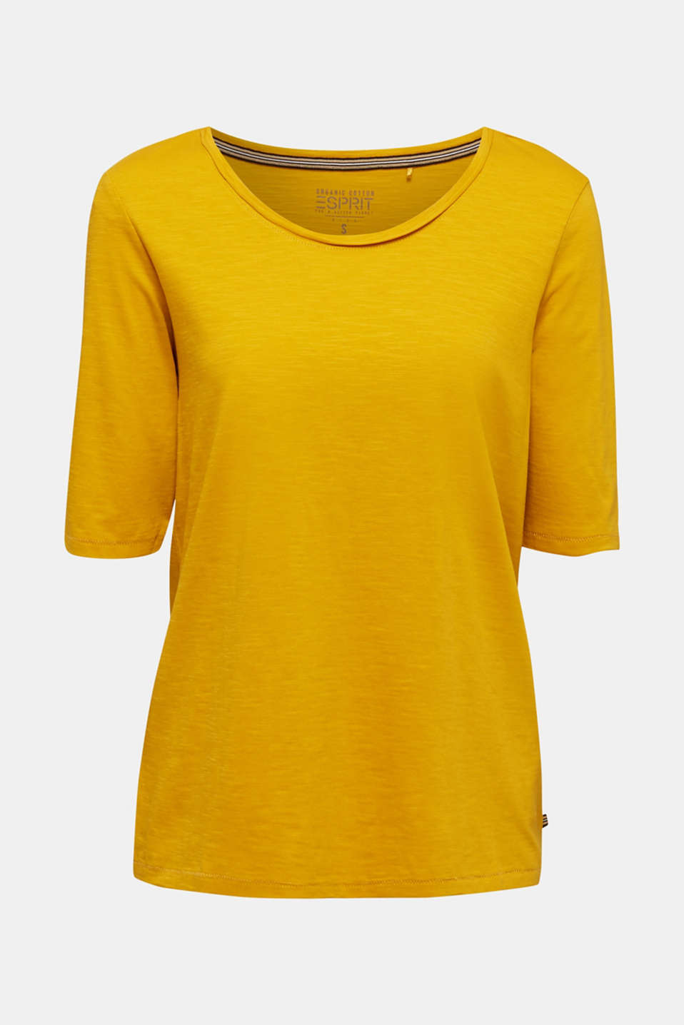 T-shirt made of 100% organic cotton, BRASS YELLOW, detail image number 6