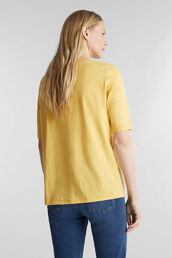 T-shirt made of 100% organic cotton, YELLOW, detail image number 3