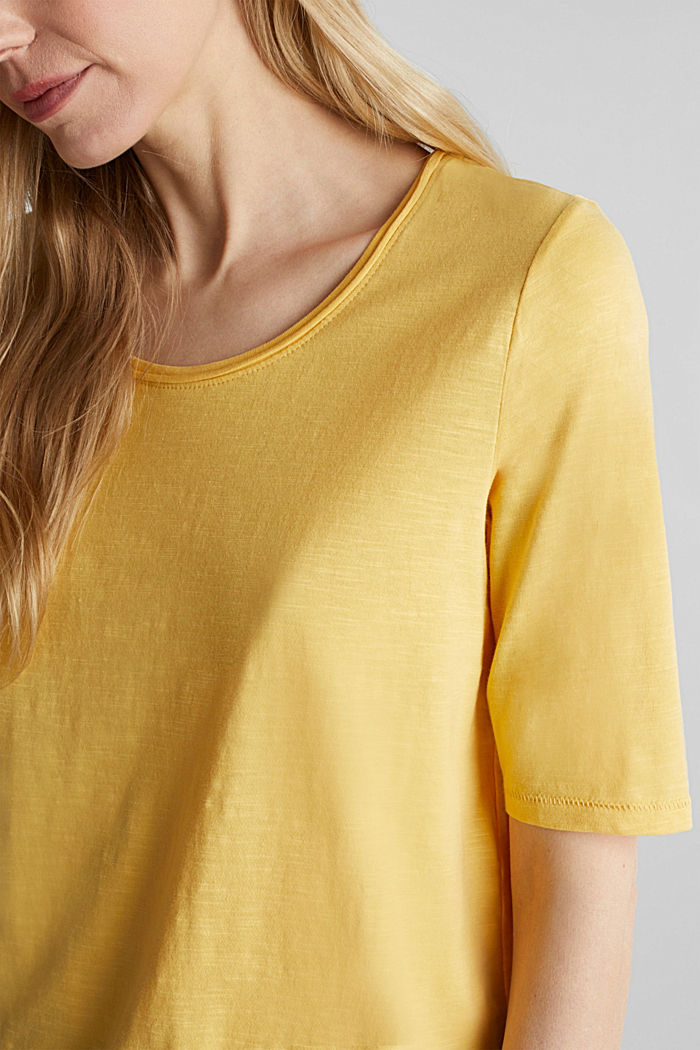 T-shirt made of 100% organic cotton, YELLOW, detail image number 2