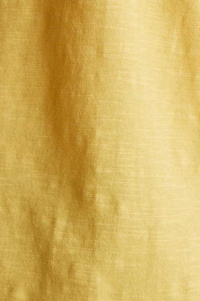 T-shirt made of 100% organic cotton, YELLOW, detail image number 4