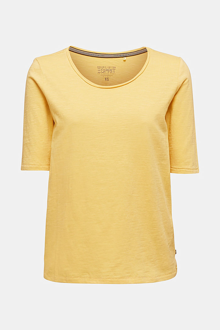 T-shirt made of 100% organic cotton, YELLOW, detail image number 5