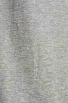 Melange T-shirt with a logo print, MEDIUM GREY 5, detail