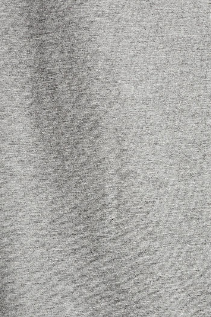 Melange-Shirt mit Logo-Print, MEDIUM GREY, detail image number 4