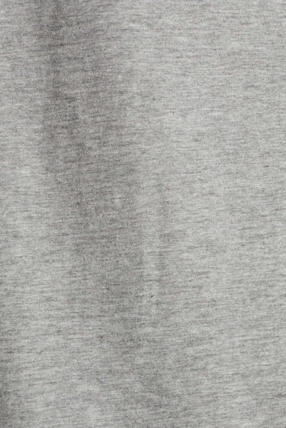Melange T-shirt with a logo print, MEDIUM GREY 5, detail image number 4