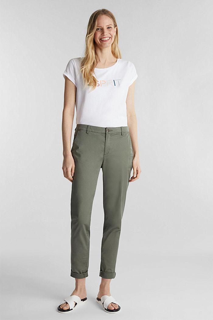 Shirt mit Logo-Print, 100% Baumwolle, NEW WHITE, detail image number 1