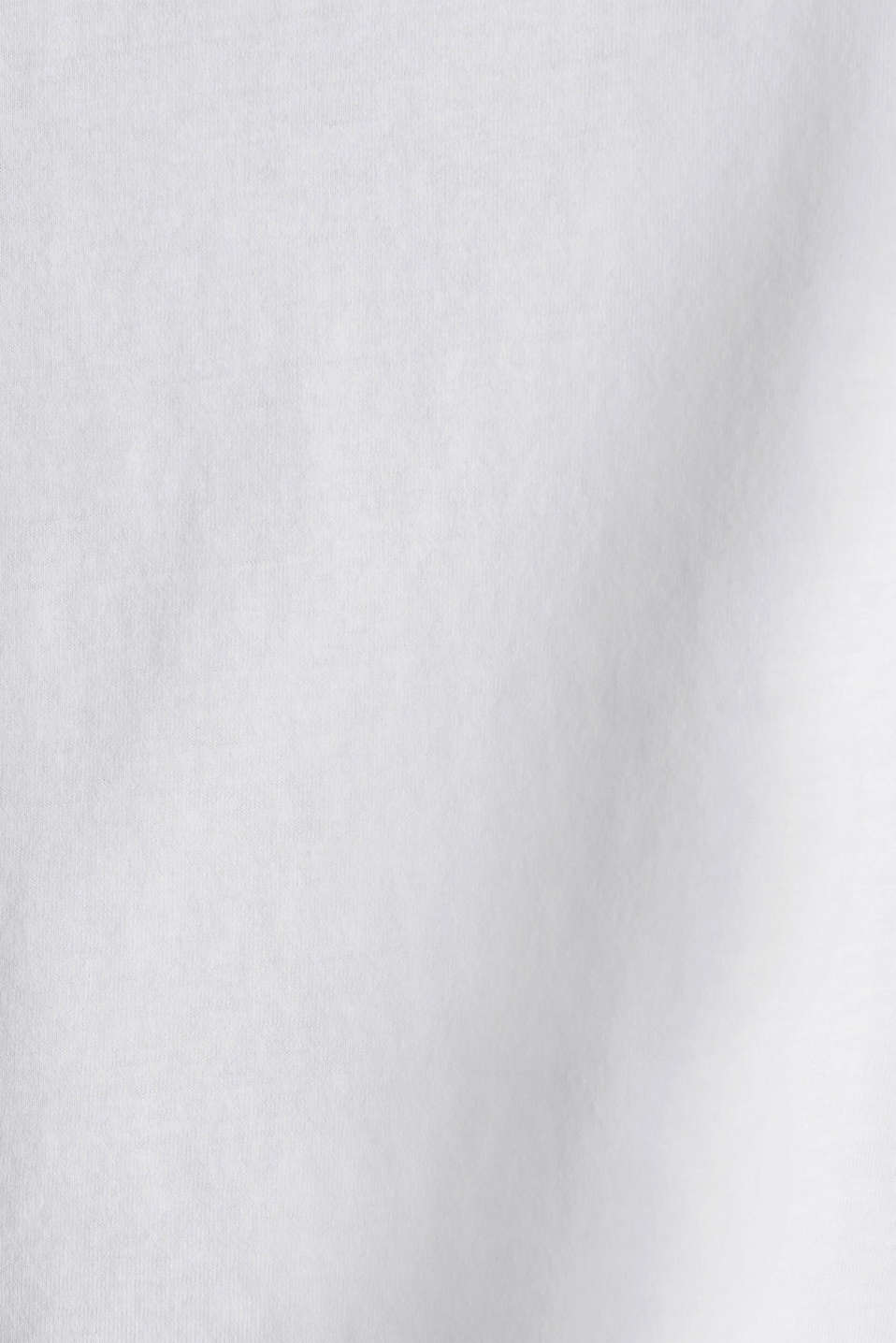 Top with a logo print, 100% cotton, WHITE 2, detail image number 4