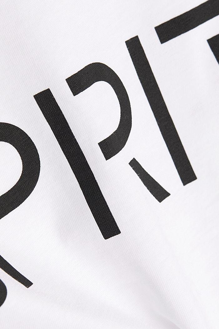 Shirt mit Logo-Print, 100% Baumwolle, WHITE, detail image number 4