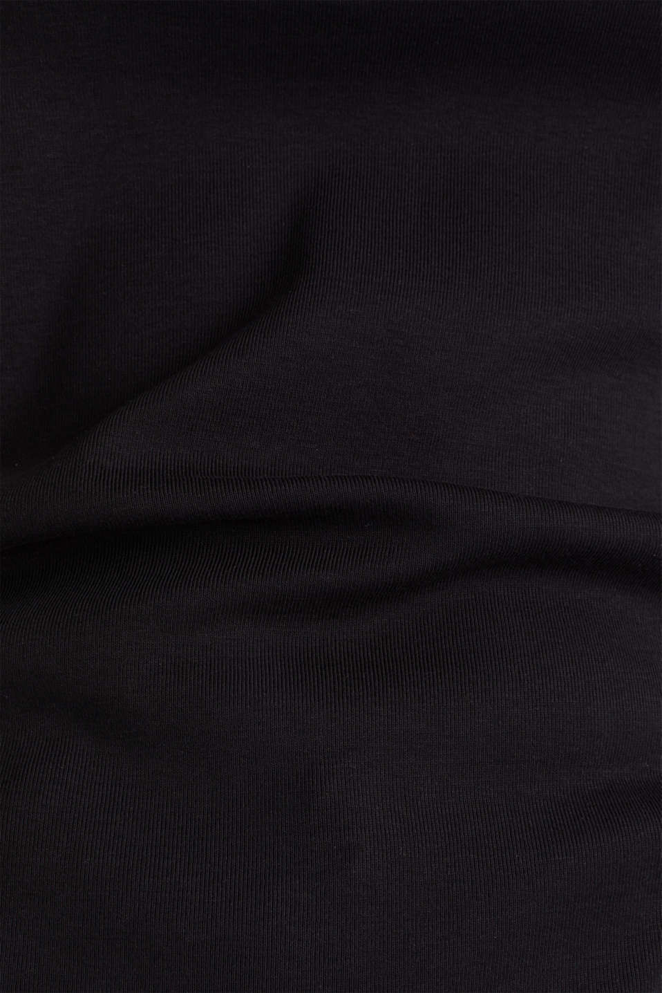 T-shirt with a rhinestone logo, 100% cotton, BLACK, detail image number 4