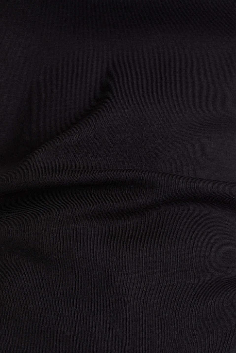 Rhinestone logo top, 100% cotton, BLACK, detail image number 4