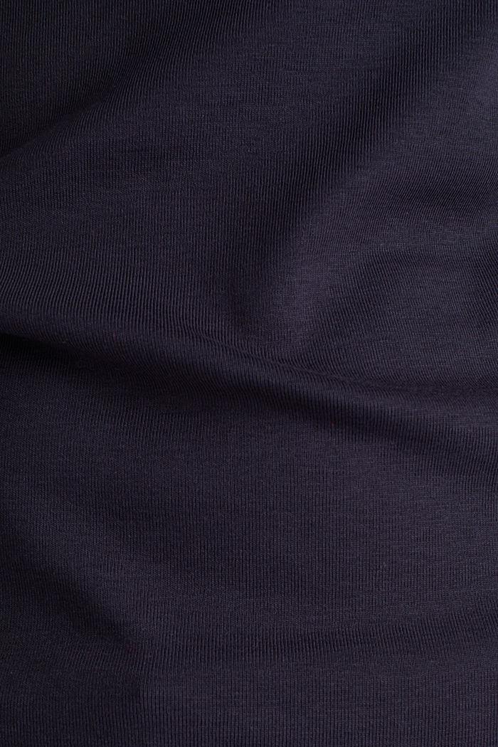 T-Shirt mit Strass-Logo, 100% Bio-Baumwolle, NAVY, detail image number 4