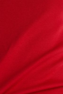 Rhinestone logo top, 100% cotton, DARK RED, detail