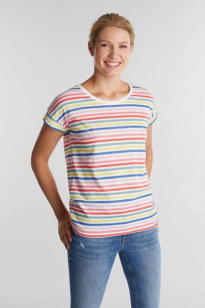 Shirt mit Print, 100% Organic Cotton, WHITE, detail image number 0