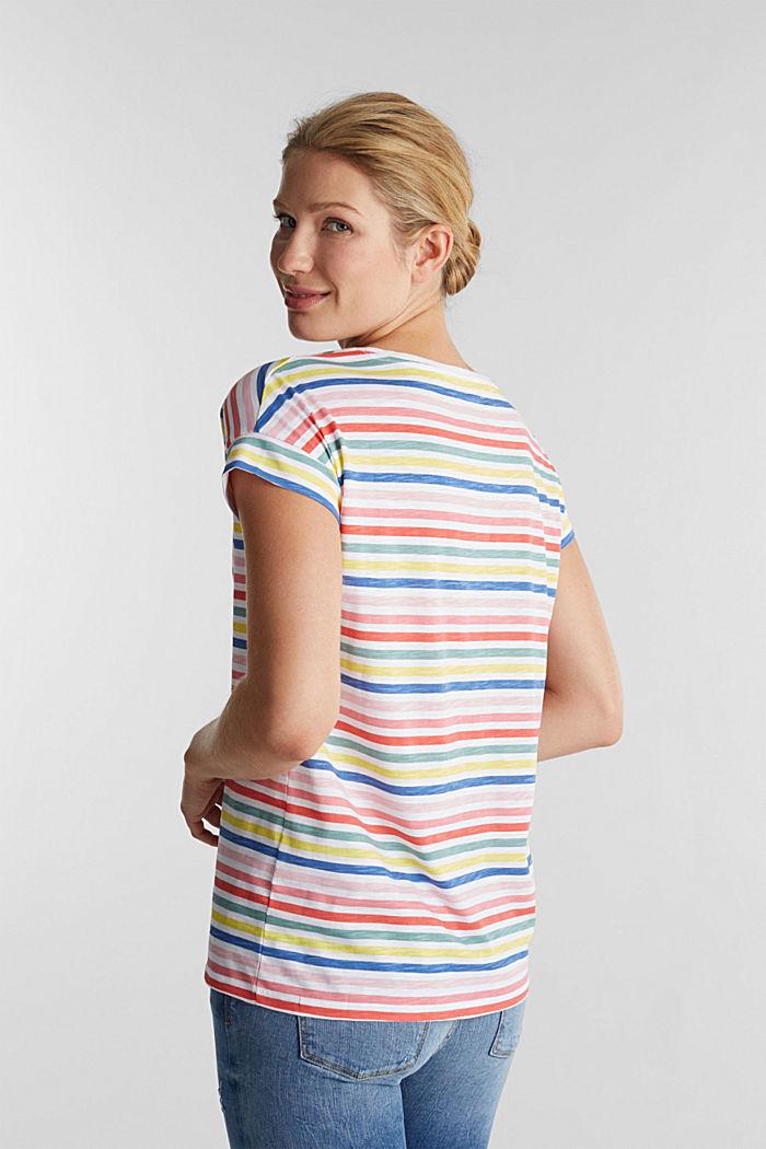 Shirt mit Print, 100% Organic Cotton, WHITE, detail image number 2