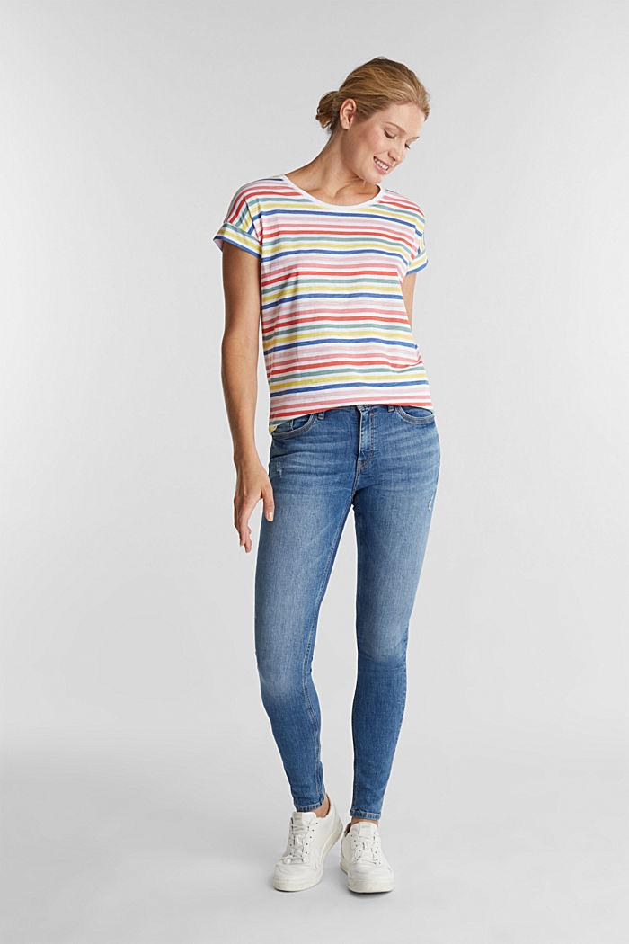 Shirt mit Print, 100% Organic Cotton, WHITE, detail image number 1