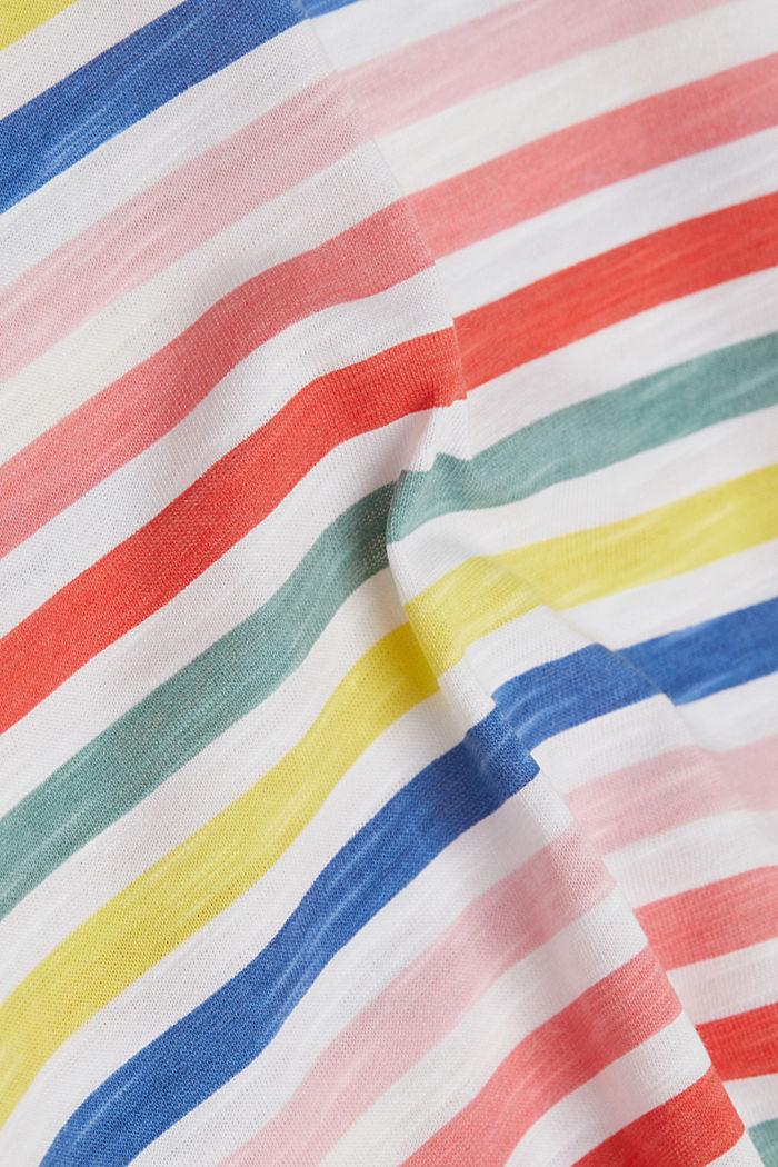 Shirt mit Print, 100% Organic Cotton, WHITE, detail image number 3
